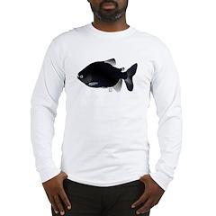 Black Pacu fish tropical Amazon Long Sleeve T-Shir