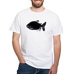 Black Pacu fish tropical Amazon White T-Shirt