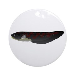 Electric Eel (Knifefish fish) Ornament (Round)