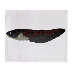 Electric Eel (Knifefish fish) Throw Blanket
