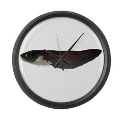 Electric Eel (Knifefish fish) Large Wall Clock