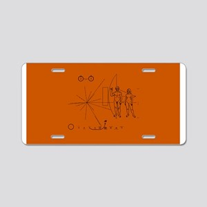 Hookem Pioneer plaque Aluminum License Plate