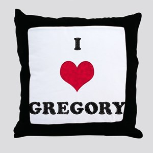 I Love Gregory Throw Pillow