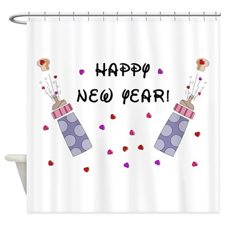 Happy New Year Baby Shower Curtain