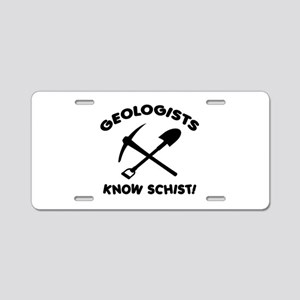 Geologists Know Schist Aluminum License Plate