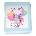 Loudi China Map baby blanket