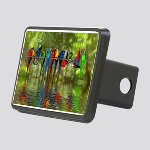 Perching Parrots Rectangular Hitch Cover