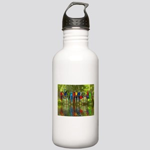 Perching Parrots Stainless Water Bottle 1.0L