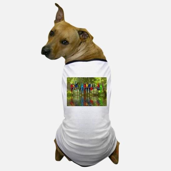 Perching Parrots Dog T-Shirt