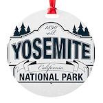 Yosemite Slate Blue Round Ornament