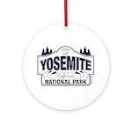 Yosemite Slate Blue Ornament (Round)