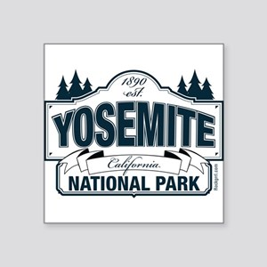 "Yosemite Slate Blue Square Sticker 3"" x 3"""