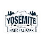 Yosemite Slate Blue 35x21 Wall Decal
