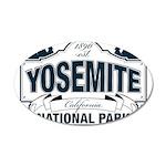 Yosemite Slate Blue 35x21 Oval Wall Decal