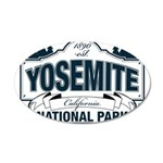 Yosemite Slate Blue 20x12 Oval Wall Decal