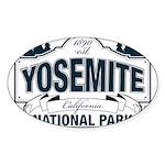 Yosemite Slate Blue Sticker (Oval 10 pk)