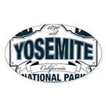 Yosemite Slate Blue Sticker (Oval)