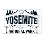 Yosemite Slate Blue Sticker (Rectangle)