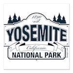 Yosemite Slate Blue Square Car Magnet 3