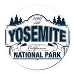 Yosemite Slate Blue Round Car Magnet