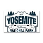 Yosemite Slate Blue Rectangle Car Magnet
