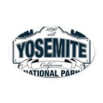 Yosemite Slate Blue Oval Car Magnet