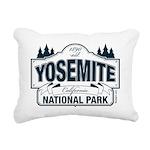 Yosemite Slate Blue Rectangular Canvas Pillow