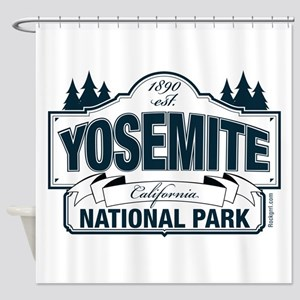 Yosemite Slate Blue Shower Curtain