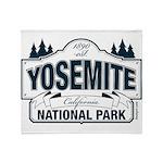 Yosemite Slate Blue Throw Blanket