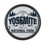 Yosemite Slate Blue Large Wall Clock