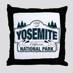 Yosemite Slate Blue Throw Pillow
