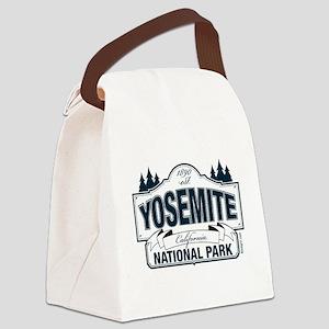 Yosemite Slate Blue Canvas Lunch Bag