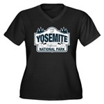 Yosemite Slate Blue Women's Plus Size V-Neck Dark
