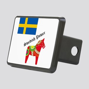 dala horse Rectangular Hitch Cover