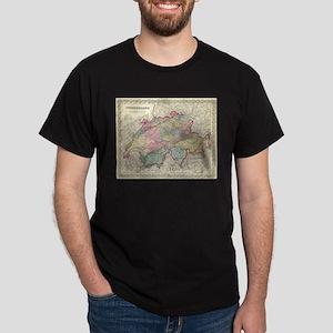Vintage Map of Switzerland (1856) T-Shirt