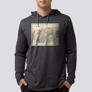 Vintage Map of Switzerland (1856 Mens Hooded Shirt