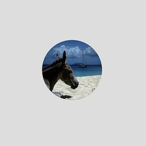 Foal on beach Mini Button