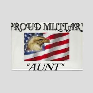 Proud Military Aunt... Rectangle Magnet