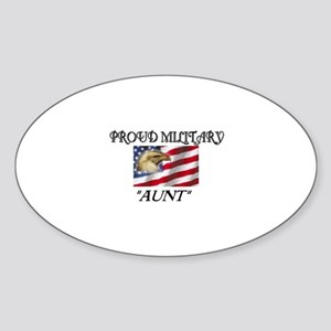 Proud Military Aunt... Oval Sticker