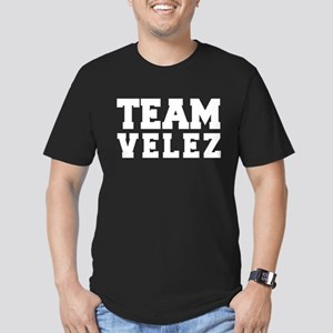 TEAM VELEZ Men's Fitted T-Shirt (dark)