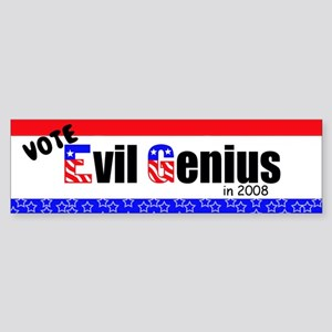 Evil Genius Party 2008 Bumper Sticker