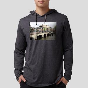 Skinny Bridge, Amsterdam, Hollan Mens Hooded Shirt