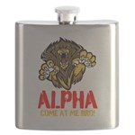 Alpha Come At Me Bro Flask
