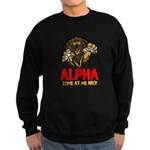 Alpha Come At Me Bro Sweatshirt (dark)