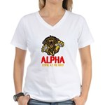 Alpha Come At Me Bro Women's V-Neck T-Shirt