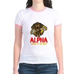 Alpha Come At Me Bro Jr. Ringer T-Shirt