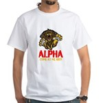 Alpha Come At Me Bro White T-Shirt