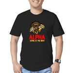 Alpha Come At Me Bro Men's Fitted T-Shirt (dark)