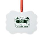 Yosemite Green Sign Picture Ornament