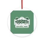Yosemite Green Sign Ornament (Round)